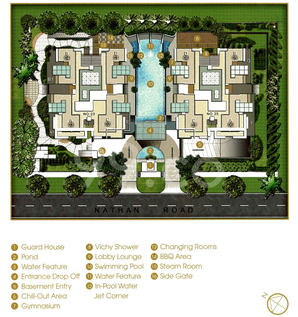 Nathan Residences Condo Site Plan in Tanglin by Tat Aik Property Pte Ltd