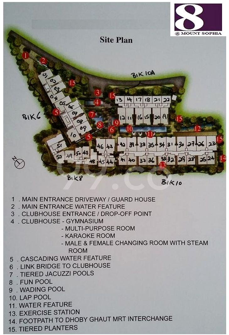 8 @ Mount Sophia Condo Site Plan by Frasers Centrepoint Homes