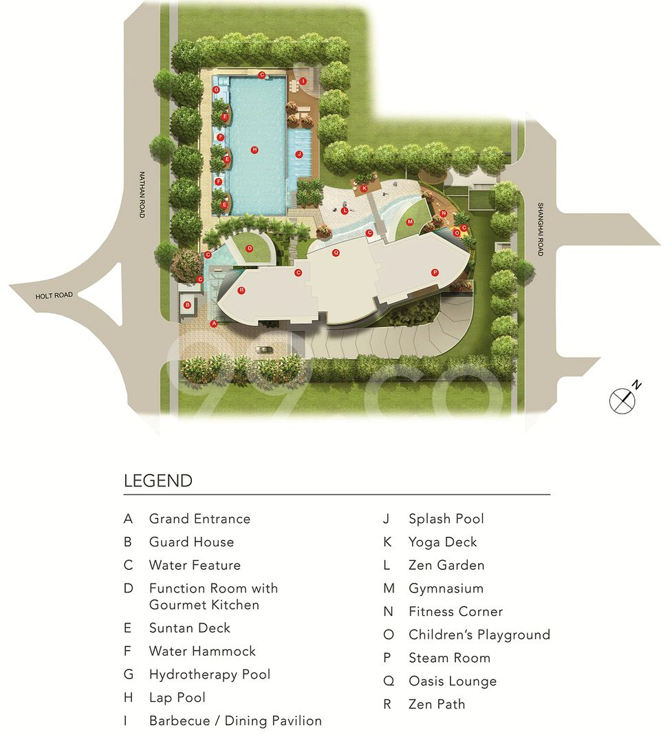 Nathan Suites Condo Site Plan in Tanglin by Tid Pte Ltd