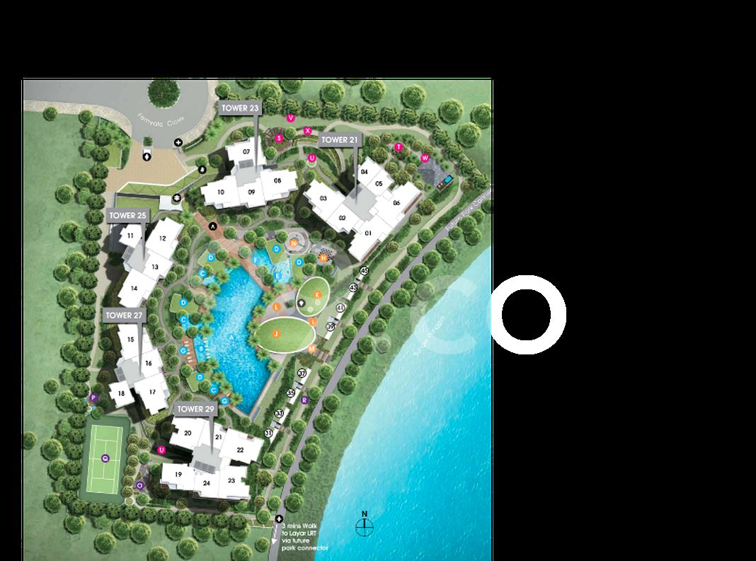 Rivertrees Residences Condo Site Plan in Sengkang by Watervine Homes Pte Ltd (Frasers Centrepoint Homes,Sekisui House,Far East Organization)