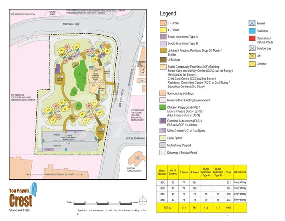 Toa Payoh Crest Site Map