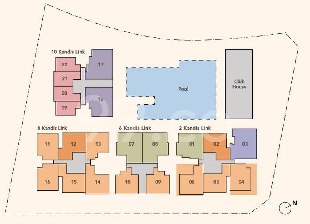 Kandis Residence Condo Site Plan in Sembawang by Tuan Sing Holdings Limited