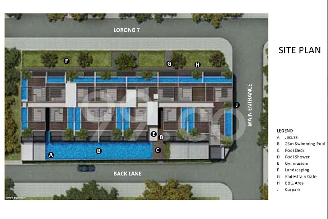 Centra Residence Condo Site Plan in Geylang by Trident Development Pte Ltd