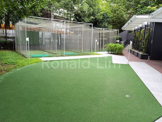 Driving range and putting green on Basement level