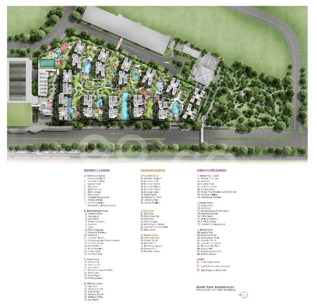 North Park Residences Condo Site Plan in Yishun by Frasers Centrepoint Homes