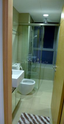 Common Bath cum attached bathroom for Bedroom 2