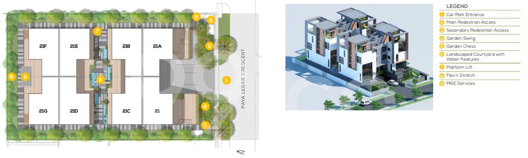 Place-8 Landed Site Plan in Hougang by Le Premier Development Pte Ltd