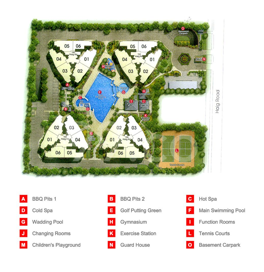 Haig Court Condo Site Plan in Marine Parade by The Great Eastern Life Assurance Co Ltd