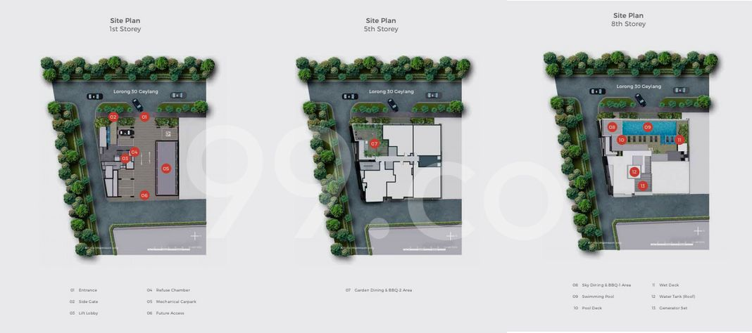 33 Residences Condo Site Plan in Geylang by Macly Group