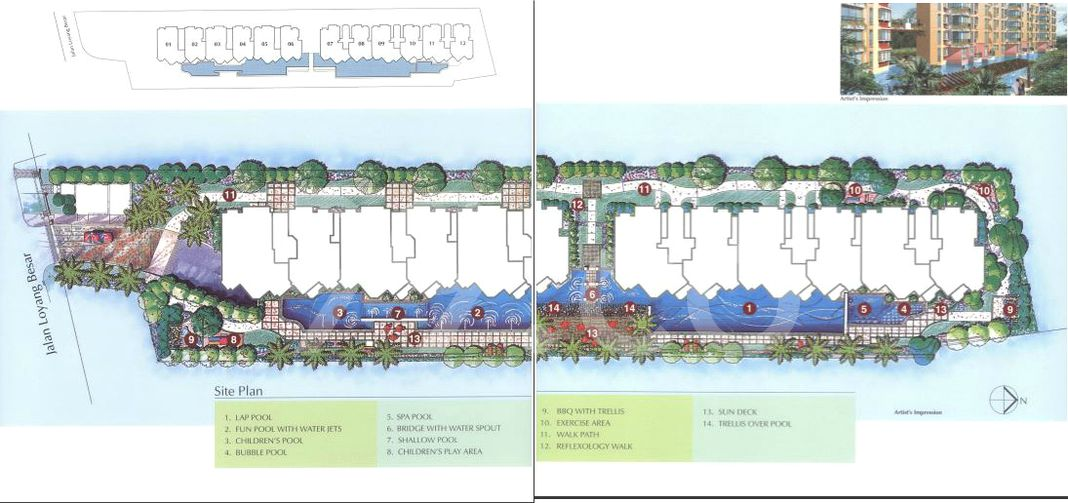 The Edgewater Condo Site Plan in Pasir Ris by Keppel Land