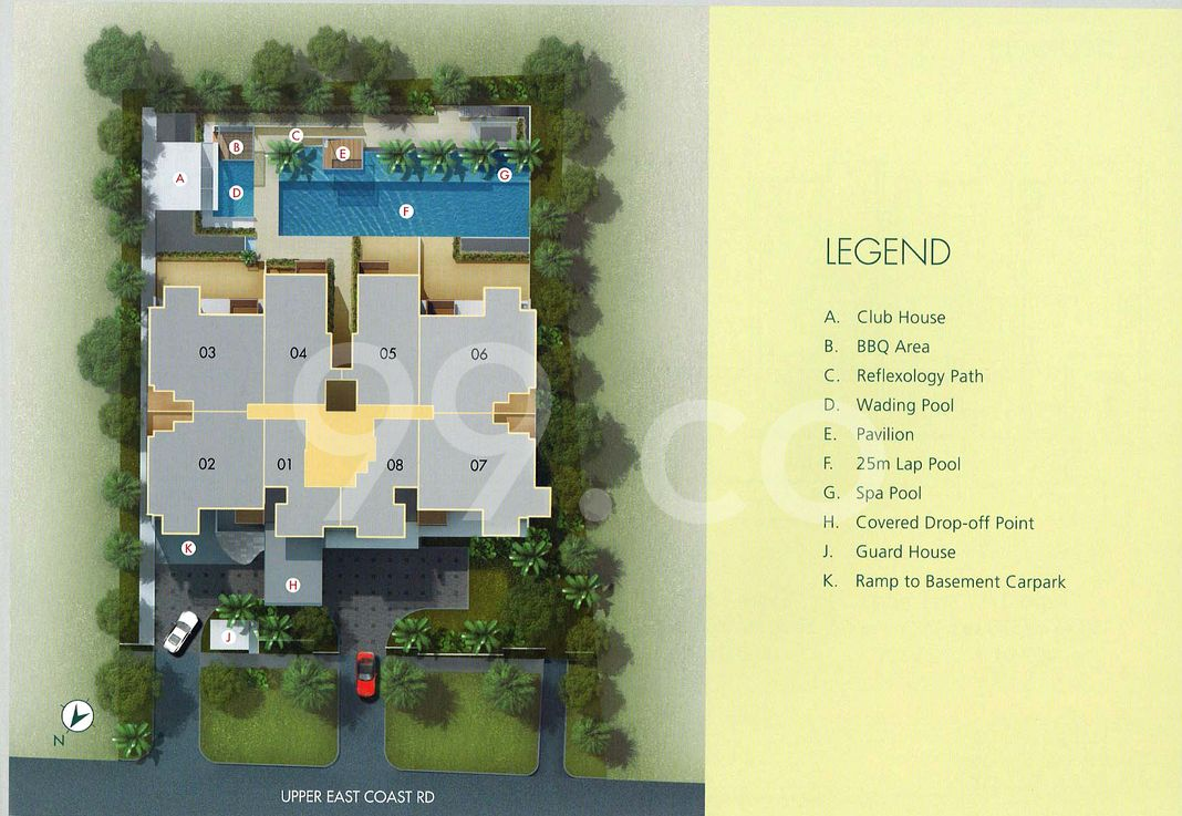 Balcon East Condo Site Plan in Bedok by Feature Land Pte Ltd