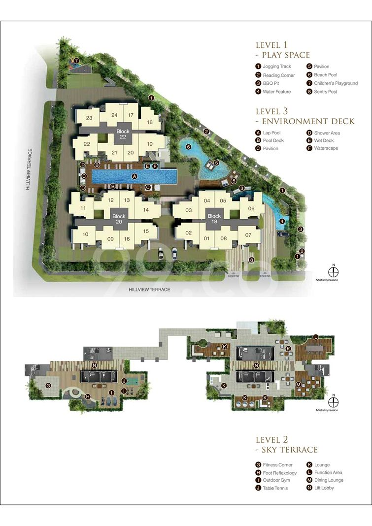 Natura @ Hillview Condo Site Plan in Bukit Batok by Mequity (Hillview) Pte Ltd