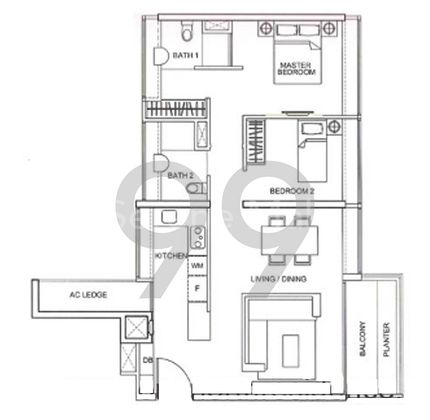 One-North Residences - Configuration B2