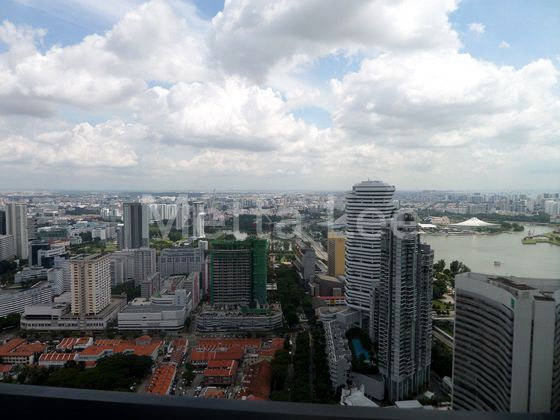 Unblocked City View at one of the highest units in Duo Residences.