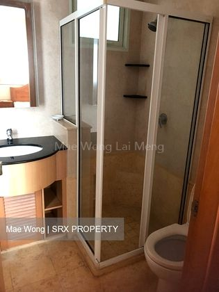 Common bathroom with standing bath and basin