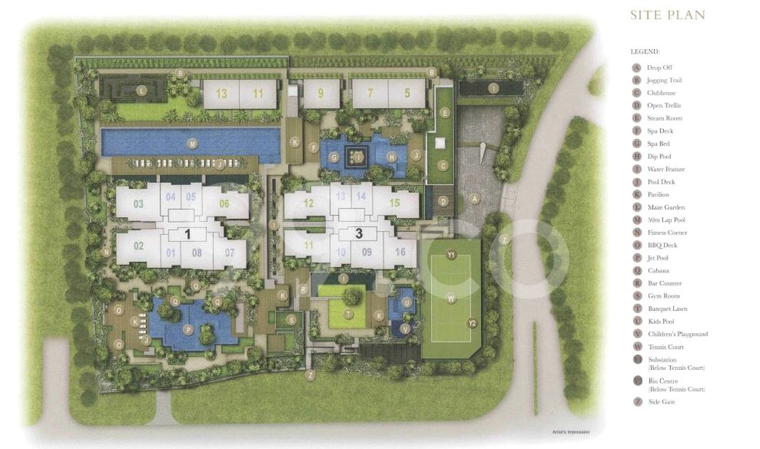 Thomson Impressions Condo Site Plan in Bishan by Nanshan Group