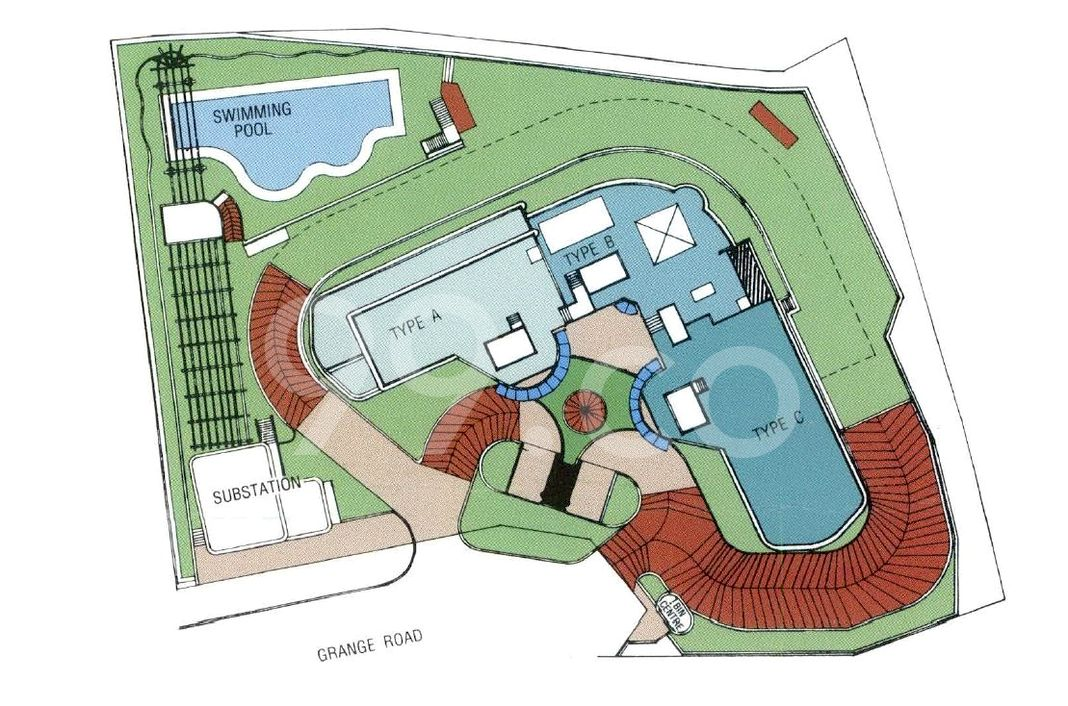 Manhattan Mansions Condo Site Plan in River Valley by Springleaf Homes (Ban Hin Leong Group)