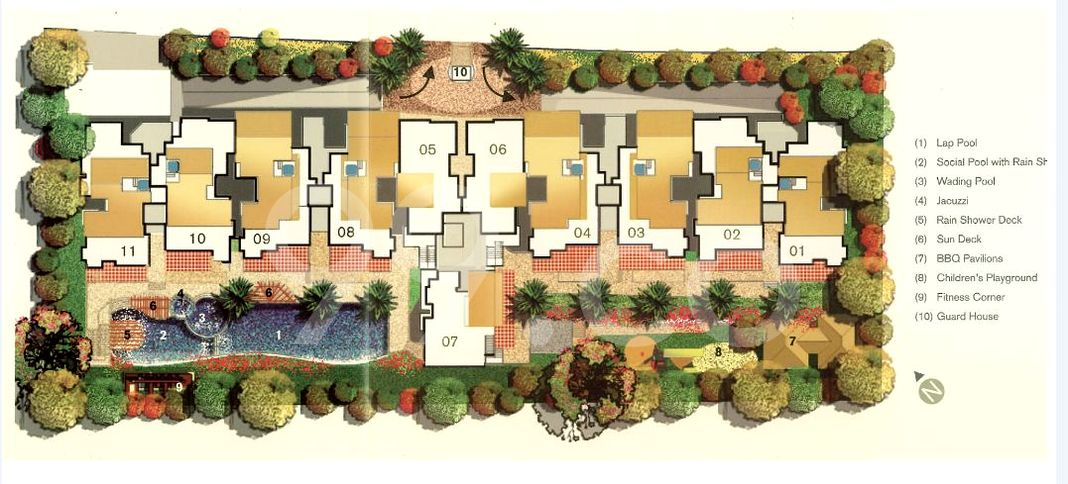 The Grandhill Condo Site Plan in Queenstown by Straits Construction Co Pte Ltd