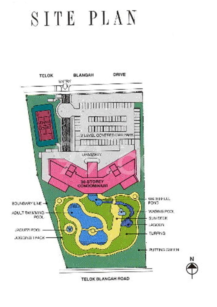 Harbour View Towers Condo Site Plan in Bukit Merah by Harbour View Development Pte Ltd