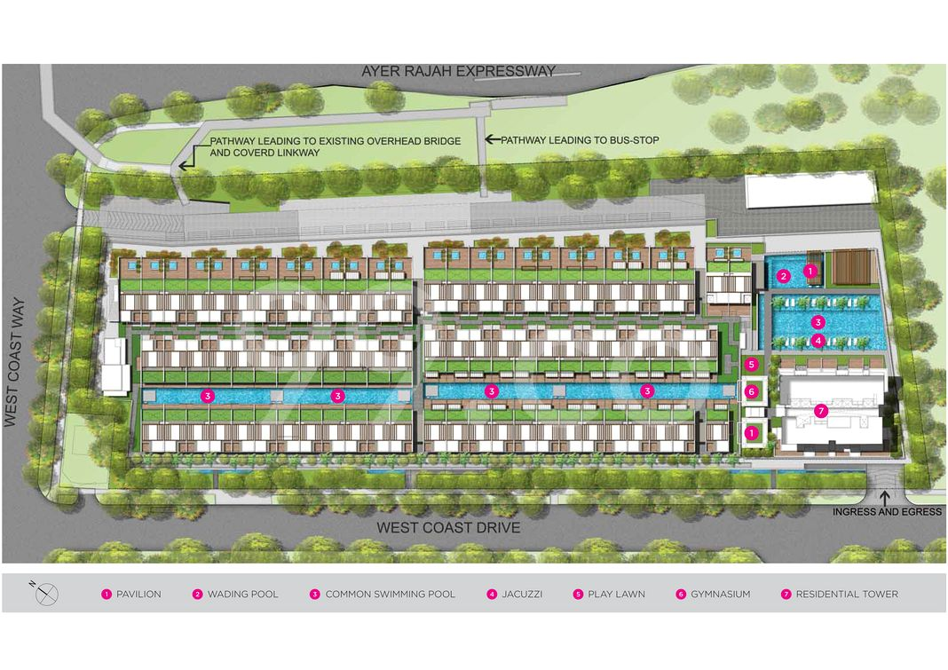 Newest Condo Site Plan in Clementi by Oxley Viva Pte. Ltd