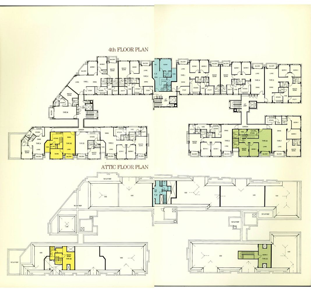 Versailles Condo Elevation Chart and Unit Distribution by Stack and Block Level