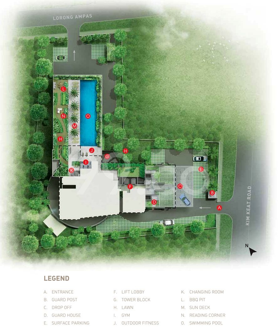 The Interweave Condo Site Plan in Novena by BS Tanjong Katong Pte Ltd