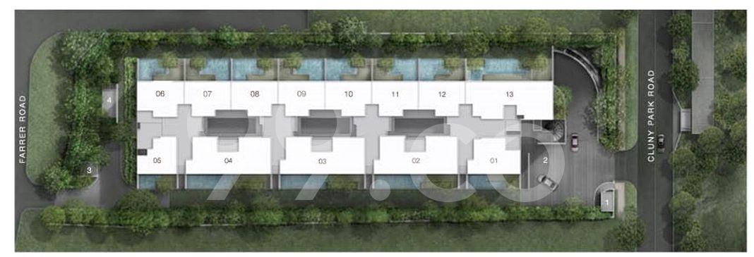 Cluny Park Residence Condo Site Plan in Tanglin by Shelford Properties Pte Ltd