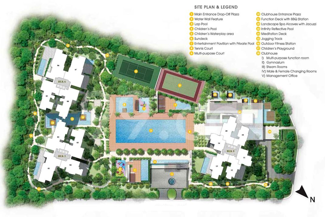 The Trizon Condo Site Plan in Bukit Timah by Ideal Homes Pte Limited