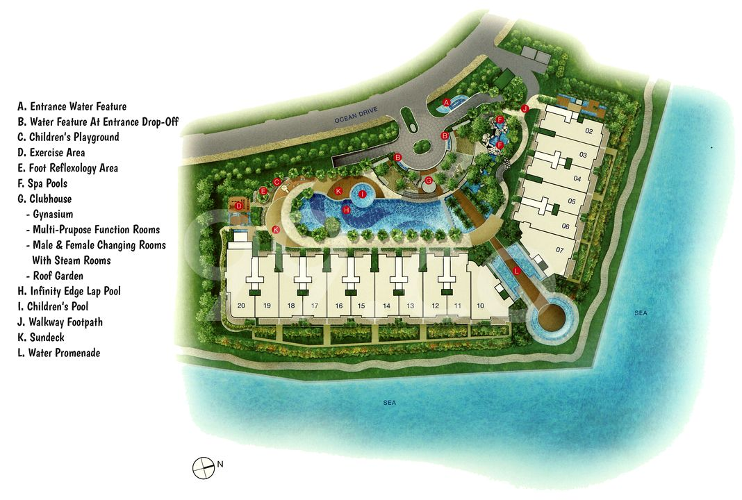 The Azure Condo Site Plan by Frasers Centrepoint Homes